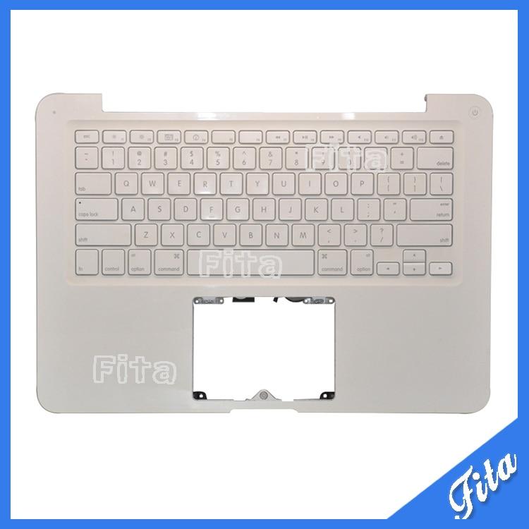 USED TopCase Housing With US Keyboard For Macbook Unibody White 13 A1342 Topcase Palmrest With Keyboard MC207 MC516