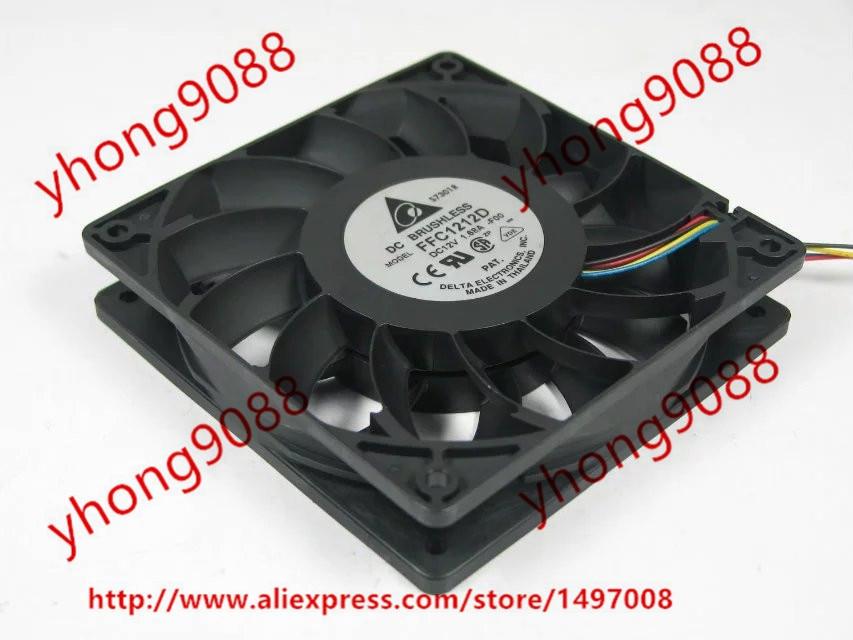 Delta FFC1212D F00 DC 12V 1.68A 120x120x25mm Server Square Fan