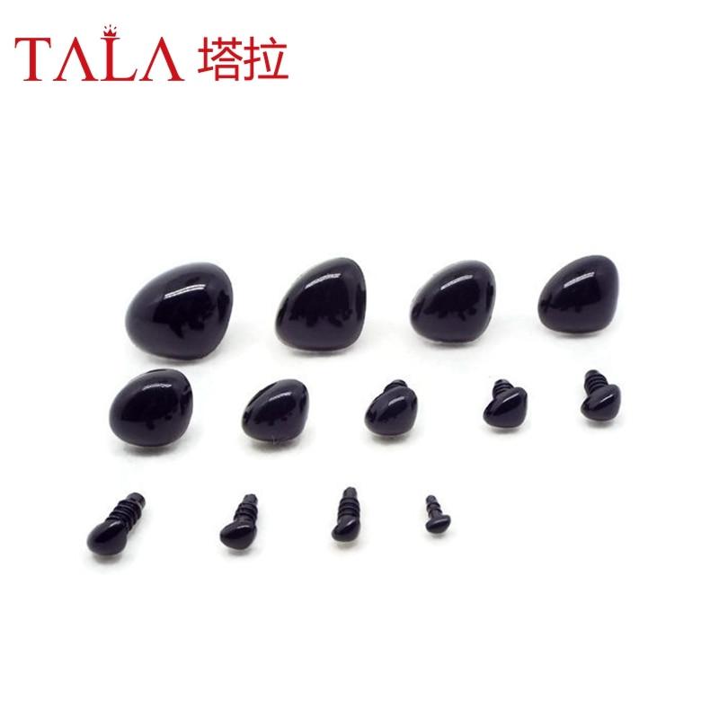 50st 4,5mm-26mm Svart Plast Säkerhet Näsor För Toy Kom Med Plast - Dockor och gosedjur