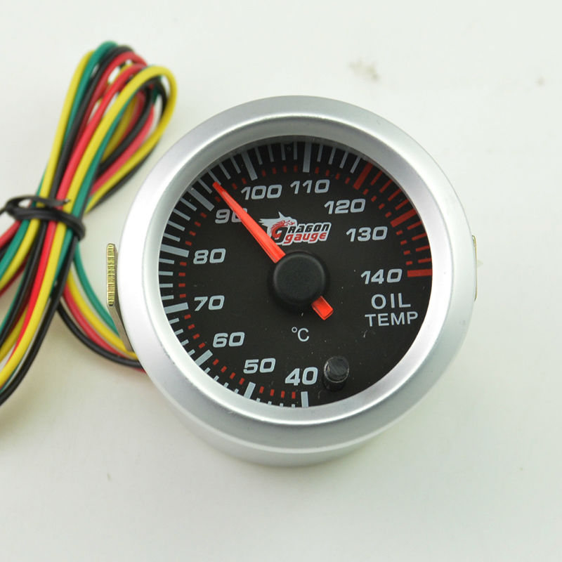 52mm  Stepper moto  self-test function oil temperature gauge  pointer type instrument 7 colour backlight free shipping