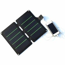 Hot Sale 5PCS/Lot 11W 5V Portable Solar Panel Charger Super Slim Light Solar Cell Charger Sunpower USB Output Free Shipping