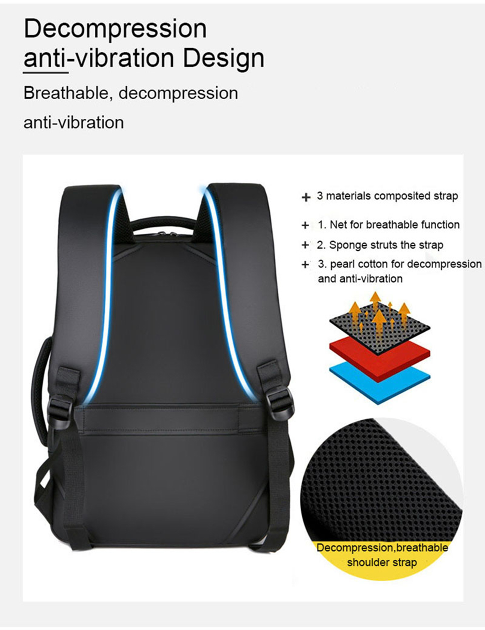 17 Inch Laptop Backpack 15.6 Mens Male Backpacks Business Notebook Mochila Waterproof Back Pack USB Charging Bags Travel Bagpack (8)