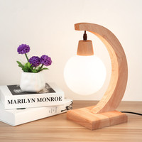 Modern Simple Wood Art Bedroom Bedside Lamp Nordic Creative Study Office Lamparas de mesa