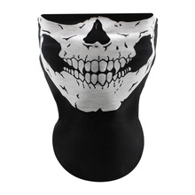 Motocross Mask Outdoor Sport Ghost Skull Motorbike Motorcycle Face Neck Dust Proof Bicycle Cycling Veil