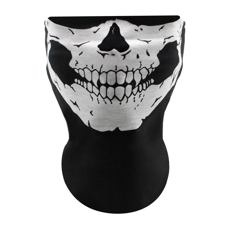 10PCS Motorcycle Face Mask Outdoor Sport Ghost Skull Motorbike Motocross Bicycle ATV Dirt Bike Cycling Dust Face Mask Neck Veil