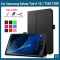 Для Samsung T585 T580N чехол Ultra Slim PU Кожаный Чехол Для Samsung Galaxy Tab 10.1 2016 T585 T580 чехол + 3 бесплатных подарков