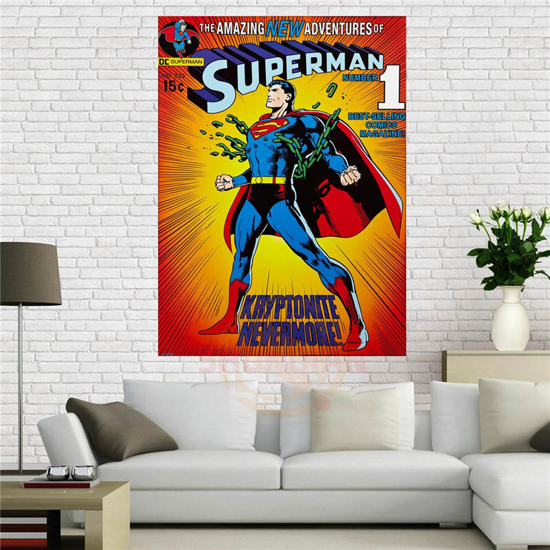 Fabric Wall Posters : Custom canvas poster superman kryptonite nevermore