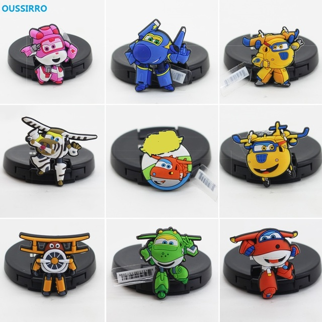 eb64f5f2ce93 OUSSIRRO 14 pcs set New Super Wings Cartoon ocs Shoes PVC Shoe Charms for  Croc   Jibbitz Bands Bracelet Wristband