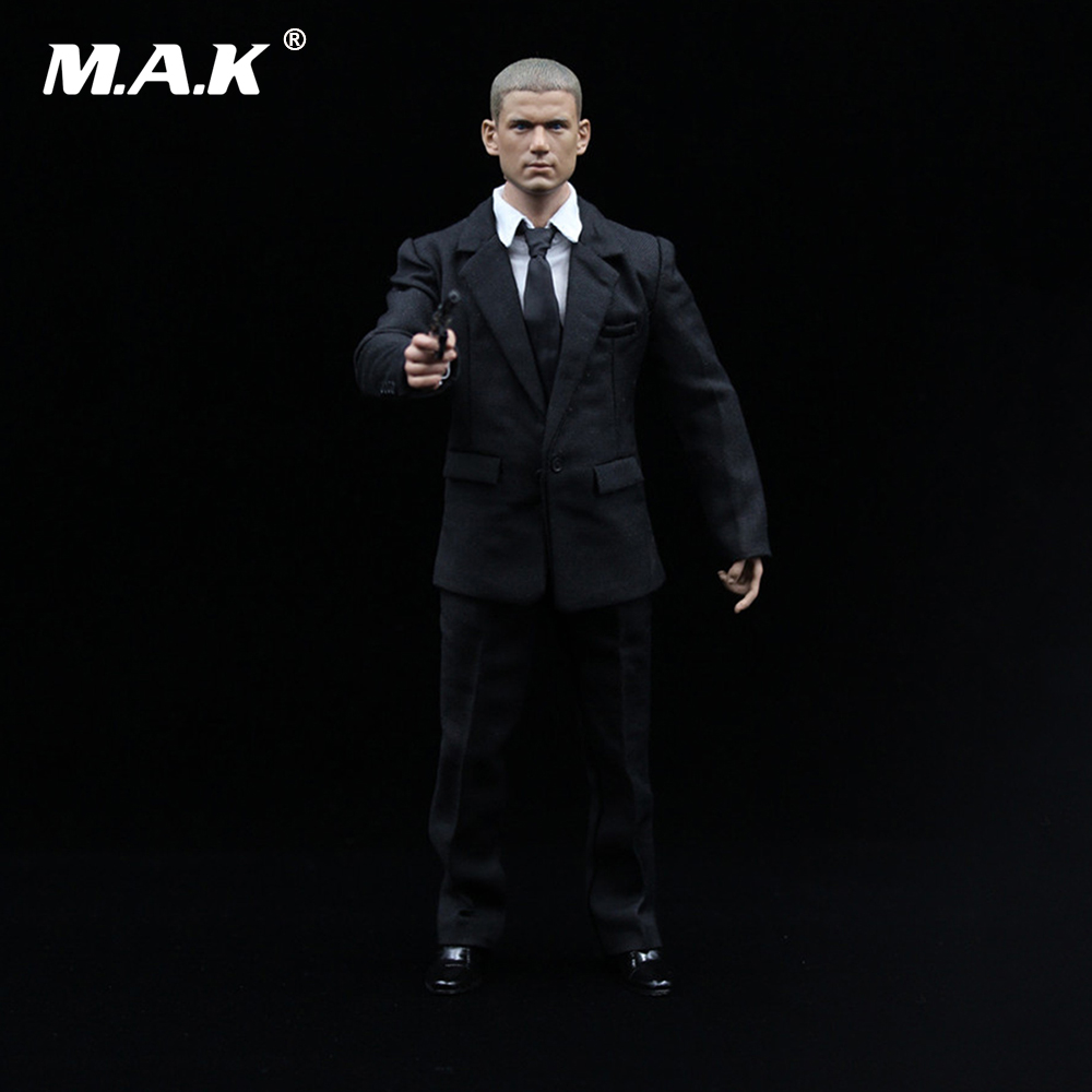 1/6 Prison Break Michael Coffield Full Set Action Figure Wentworth Miller Head & Body & Suit Weapon Accessories Model Collection 1 6 scale mike head carved jailbreak mike scofield wentworth miller head carving 12 figure accessories