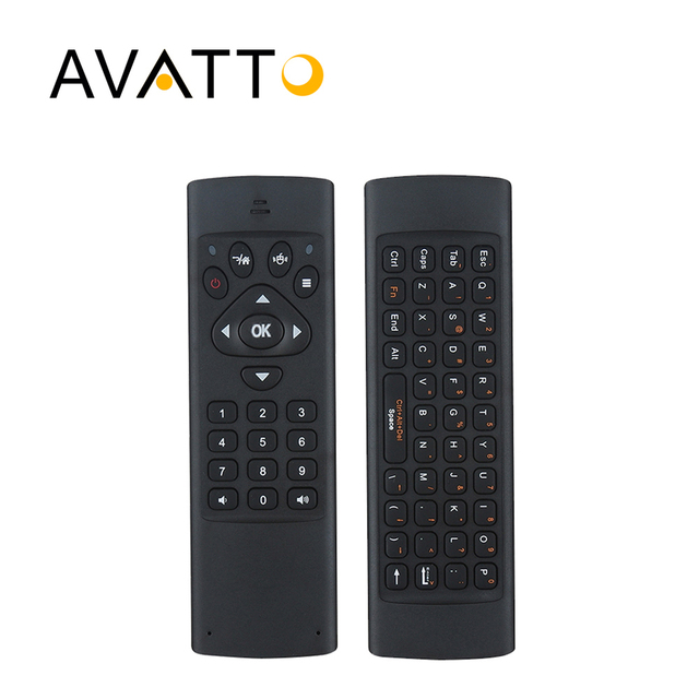 [AVATTO] K16 Hebrew/English IR Learning 2.4G Wireless Mini Keyboard 10-20m Remote Control for Smart TV,PC,PS3,pad,Android Box