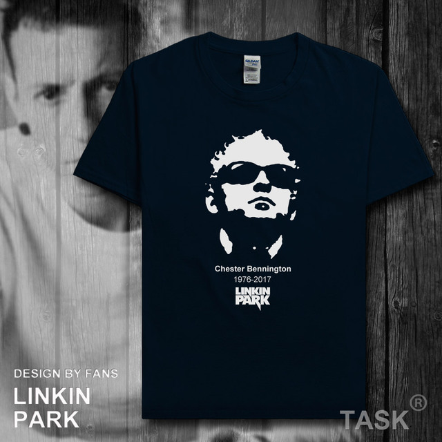 cd82adbcc083 Linkin Park Band Chester Bennington Memorial T Shirt Men Tshirt 100