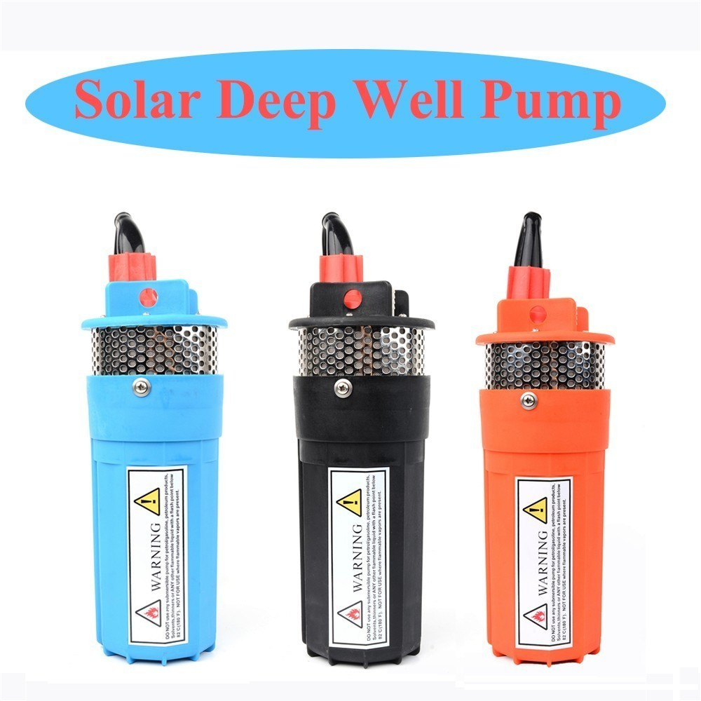 DC 12V/24V 6L/min Lift=70m Deep Well Submersible Pump For Solar Energy Panels,Small/Mini Electric,Water Transfer,12 V 24 Volt 50mm 2 inch deep well submersible water pump deep well water pump 220v screw submersible water pump for home 2 inch well pump