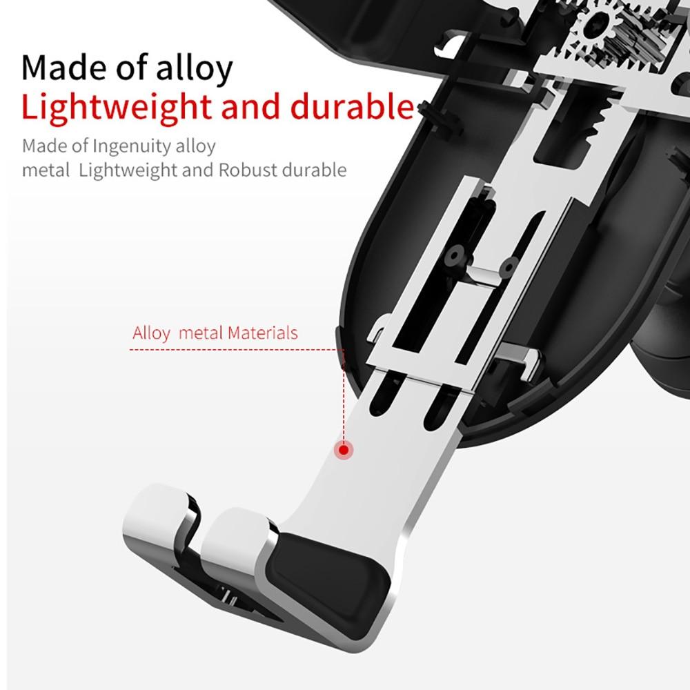 DCAE 10 W Cepat QI Mobil Nirkabel Charger Gravity Holder untuk iPhone - Aksesori dan suku cadang ponsel - Foto 6
