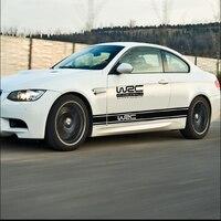 YANF סטיילינג המכונית WRC רכב מדבקת שחור לבן ספורט עיצוב תפאורה עבור אופנוע אוטומטי מדבקה רפלקטיבית קישוט רכב עמיד למים