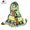 Богемия стиль женщины длинные шали и шарфы 180 * 110 см перл кисточкой животное цветок печать этнические бандана известный бренд шарф