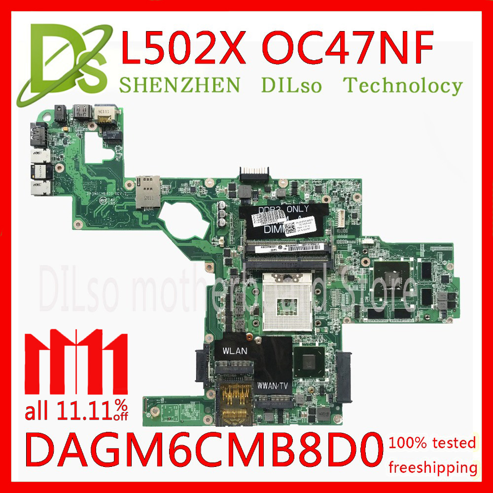 KEFU C47NF 0C47NF CN-0C47NF mainboard For Dell XPS L502X laptop motherboard GT525M GT540M DAGM6CMB8D0 Test work 100% original laptop motherboard for dell studio xps 1640 pp35l hd3670 graphics cn 0p743d da0rm2mbah0 mother board mainboard