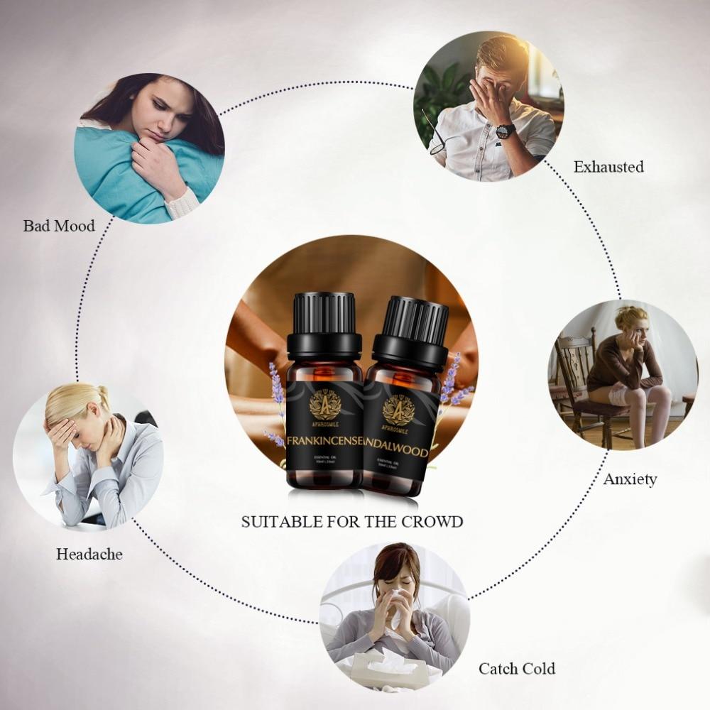 2pcs/set Frankincense + Sandalwood Oil Water-soluble Pure Natural Plant Aromath Oil Face Moisturizer Anti Wrinkle Skin Care Oil