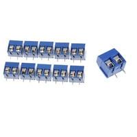 10/20 pces 2 pinos plug in parafuso bloco terminal conector 5.08mm passo conectores terminais blocos Blocos de terminais     -