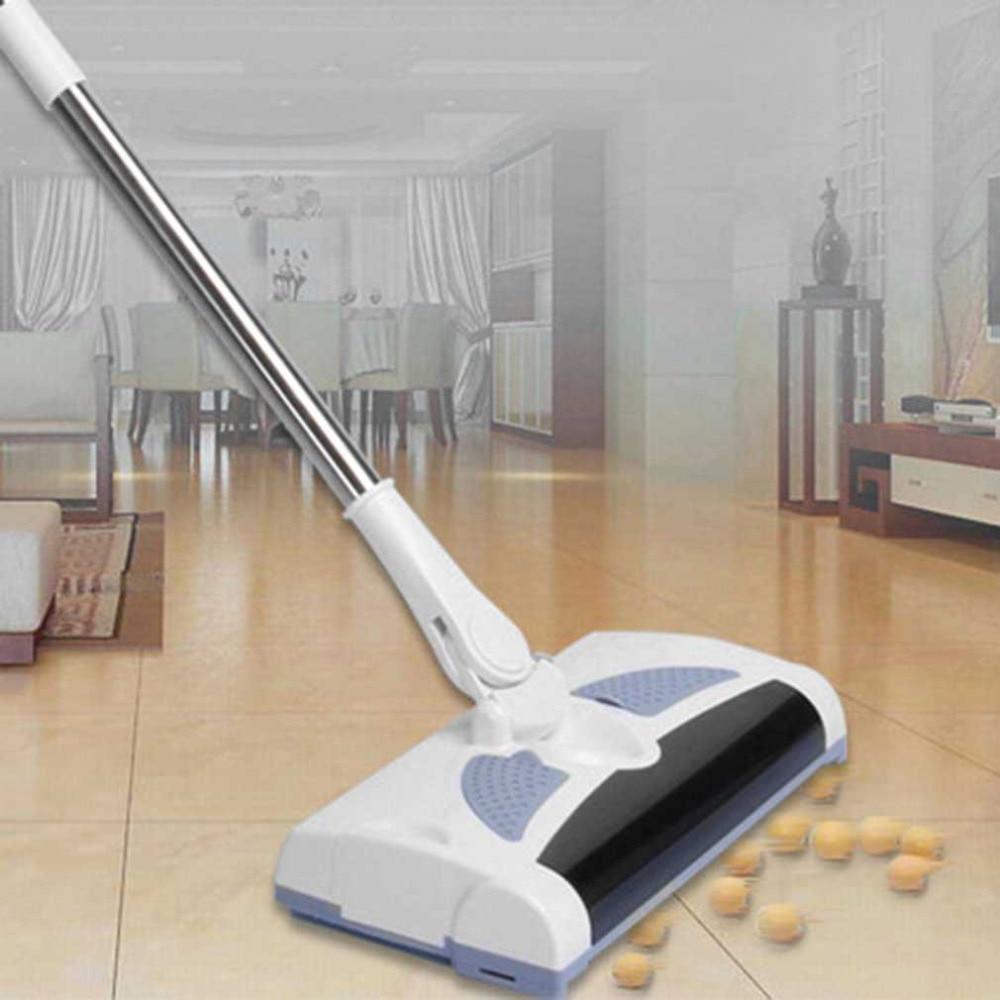 Manual de Mão Push Vassoura Varrendo Vassoura elétrica Sem Fio Rotação de 360 Graus Flexível Limpo Punho Longo Suprimentos Domésticos
