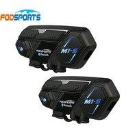 Fodsports M1 S мотоциклетный шлем Интерком bluetooth гарнитура 8 rider 2000 м группа домофон водостойкий BT переговорные Bluetooth 4,1