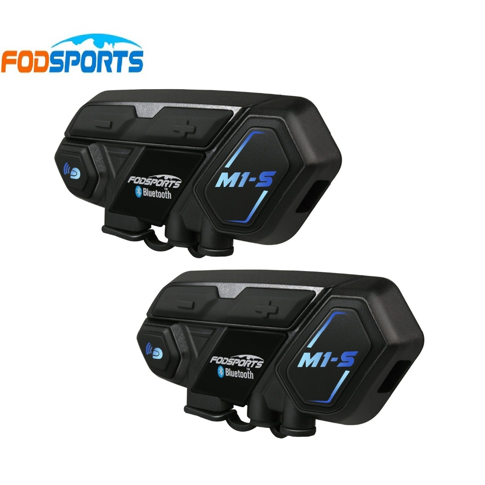 Fodsports M1-S moto casque intercom bluetooth casque 8 rider 2000 m groupe Interphone étanche BT Interphone Bluetooth 4.1