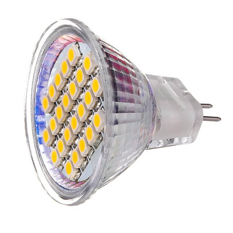 Lowest Price MR11 24 SMD 3528 1210 LED Energy Saving Spotlight Warm White Pure White Lights Bulb Lamp AC/DC12V led light bulb r7s 30w 3000lm 118mm 64 smd5730 spotlight lamp bulb pure warm white chandelier lighting energy saving 85 265v