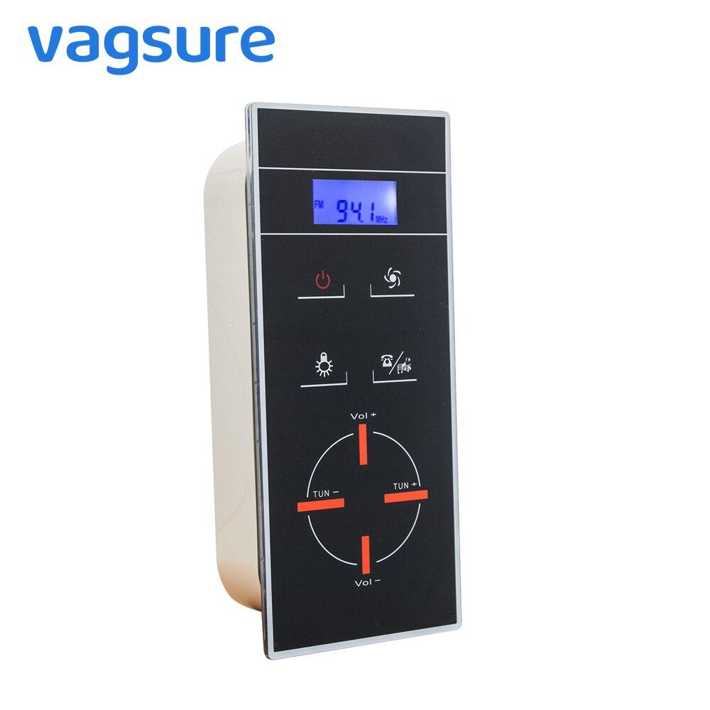 Panneau de contrôleur de Radio de salle de douche d'écran d'affichage à cristaux liquides noir d'ac 12V certifié par CE pour le contrôle d'armoire de clôture de salle de douche