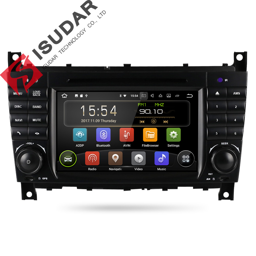 Isudar Car Multimedia Player GPS Android 7.1 2 Din Autoradio For Mercedes/Benz/Sprinter/W203/A180/Viano/Vito/W639/A-class Radio