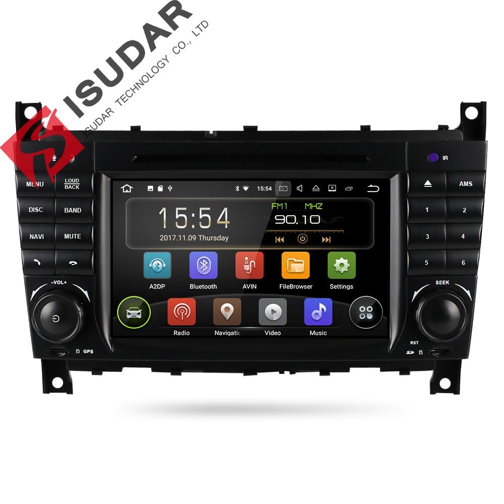 Isudar Car Multimedia Player GPS Android 7.1 2 Din Autoradio For Mercedes/Benz/Sprinter/W203/A180/Viano/Vito/W639/A-class Radio