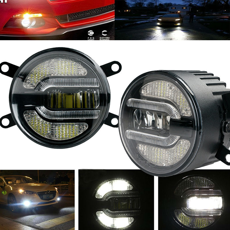 3.5 Inch 90mm Daytime Led Fog Light Lamp Daytime Running Light Bulb for Nissan Suzuki Mitsubishi Ford Toyota Citroen Renault