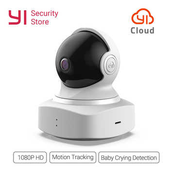 YI Cloud Dome Camera 1080P Wireless IP WIFI Home Security Cam Baby Crying Detection Night Vision 360 Coverage Global Ver. Cloud - Category 🛒 Security & Protection
