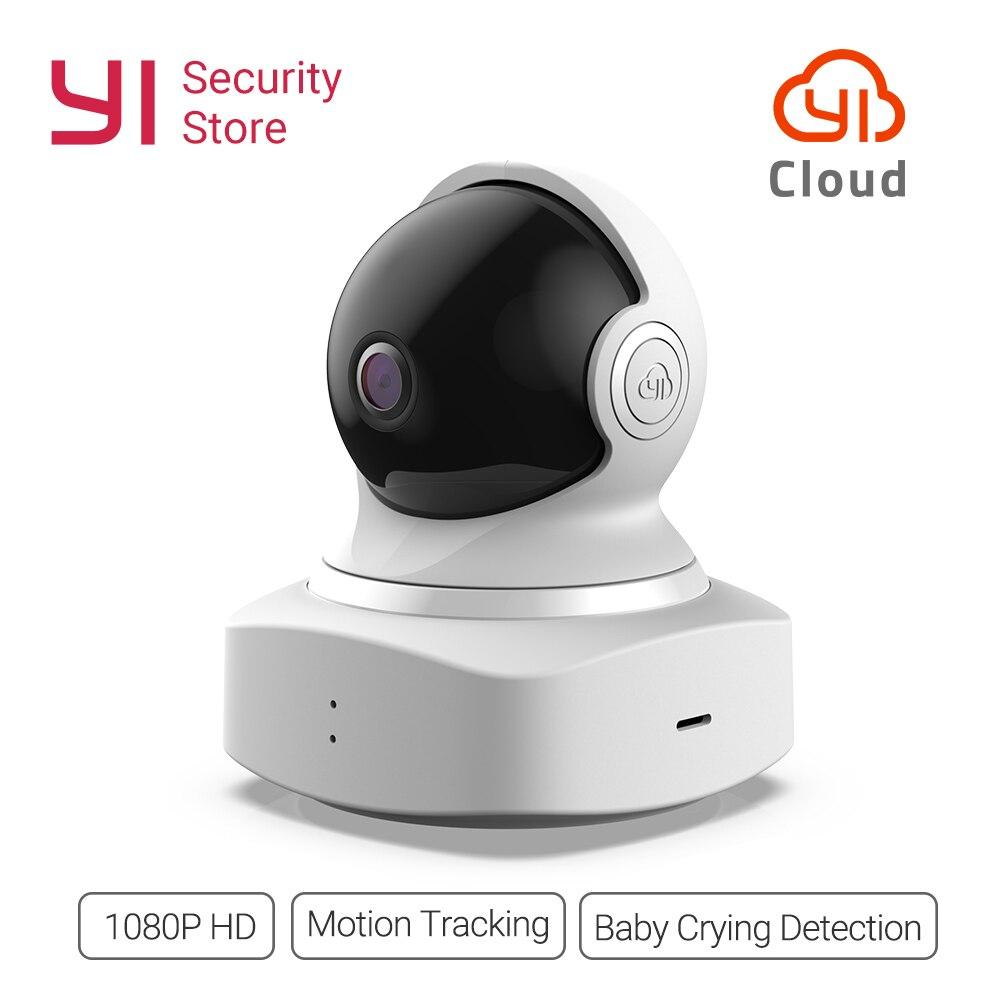 YI Cloud dôme caméra 1080P sans fil IP WIFI sécurité à domicile caméra bébé détection des pleurs Vision nocturne 360 couverture globale Ver. Nuage