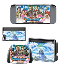 Dragon Quest Decal Vinyl Skin Protector Sticker for Nintendo Switch NS Console + Controller + Stand Holder Protective Skin цена и фото