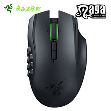 Razer Naga Epic Chroma Wired and Wireless MMO Gaming Mouse 8200 DPI with 12 Button Mechanical Thumb Grid Game mouse(China)