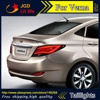 Car Styling tail lights for Hyundai Hyundai Solaris tail lights Accent Verna led tail light drl rear lamp signal+brake+reverse