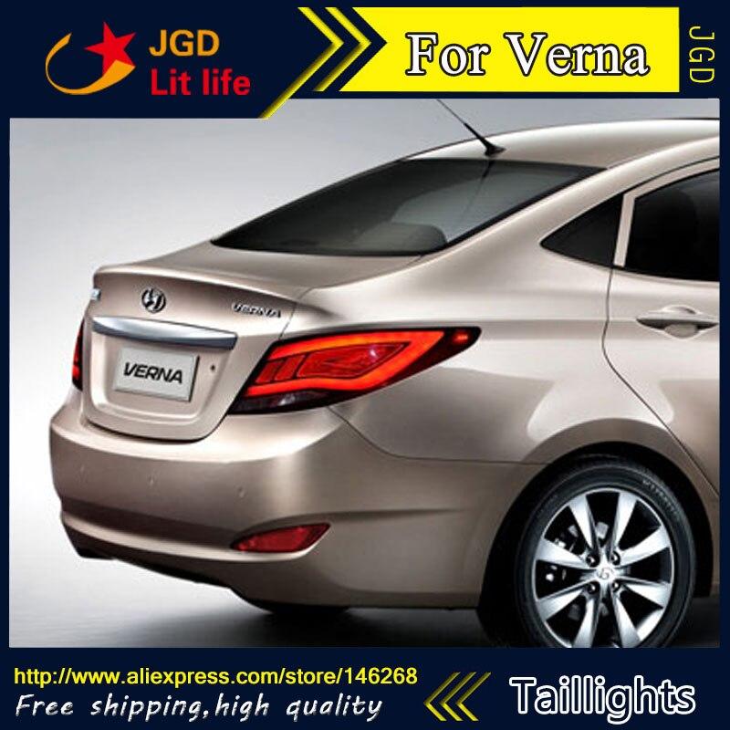 Feux arrière style voiture pour Hyundai Hyundai Solaris feux arrière Accent Verna feu arrière LED drl feu arrière signal + frein + marche arrière