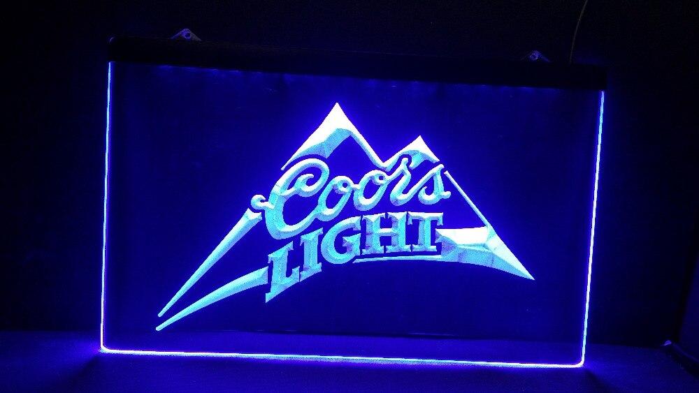 jb 027 Coors Light Beer Bar Pub Logo LED Neon Light Sign