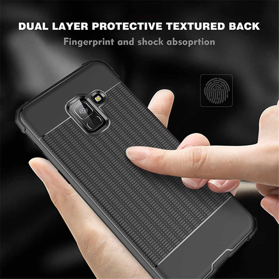 Armor Case For Samsung Galaxy A8 A6 A9 J4 J6 2018 J3 J5 J7 2017 S8 S9 Plus Note 9 8 Cover Rubber Silicone Soft AntiShock Cases