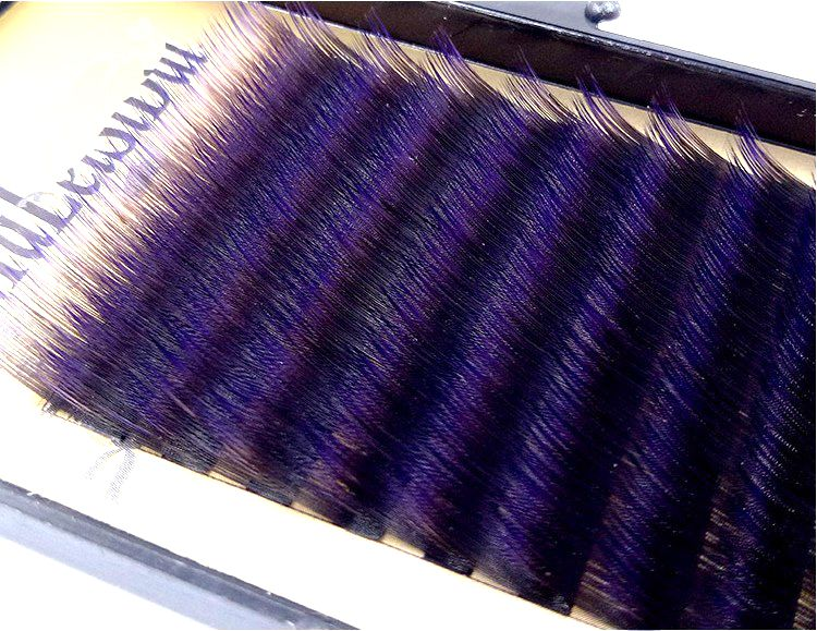 HBZGTLAD C/D Curl 0.1mm 8-14 False Lashes Gradient Purple Color Eyelash Individual Colored Lashes Faux Volume Eyelash Extensions
