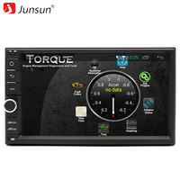 Junsun 7 Android 6 0 Universal 2 Din Car DVD Player 1024 600 For Ford Focus