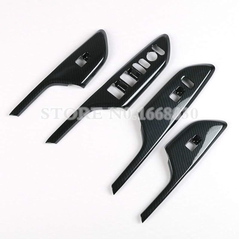 ABS Carbon Fiber Style Door Armrest Window Window Cover For Honda - Ավտոմեքենայի ներքին պարագաներ - Լուսանկար 2