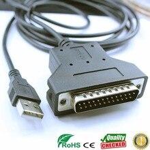 Silabs Adaptador usb cp2102 rs232 db25, serie db25, barcoder para Escáner de impresora, cable de serie