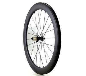 Image 4 - Ücretsiz kargo 700C 38/50/60/88mm derinlik yol karbon tekerlekler 25mm genişlik kattığı bisiklet tek arka tekerlekler UD mat finish