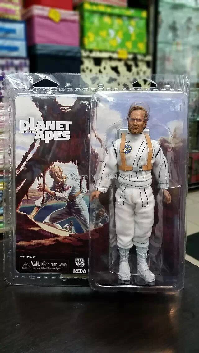 Classic 1968 Sci-fi Movie Planet Of the Apes George Taylor Charlton Heston Space Suit NECA 8 Figure Toys Original Box george crowder theories of multiculturalism