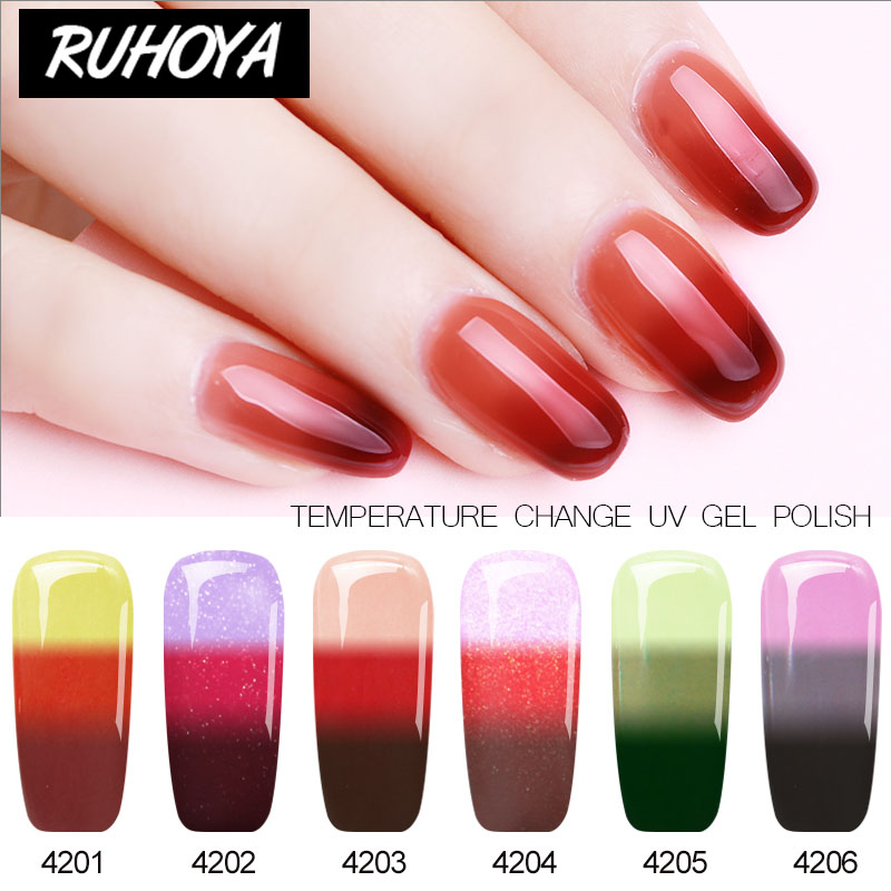 Ruhoya UV Gel Nail Varnish Lacquer Temperature