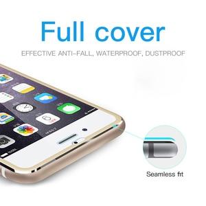 Image 5 - Protector de pantalla completo 9D para iPhone, Protector de pantalla de vidrio templado de aleación de aluminio para iPhone 6 6S 7 8 Plus 11 X XS Max XR 5 SE 5S