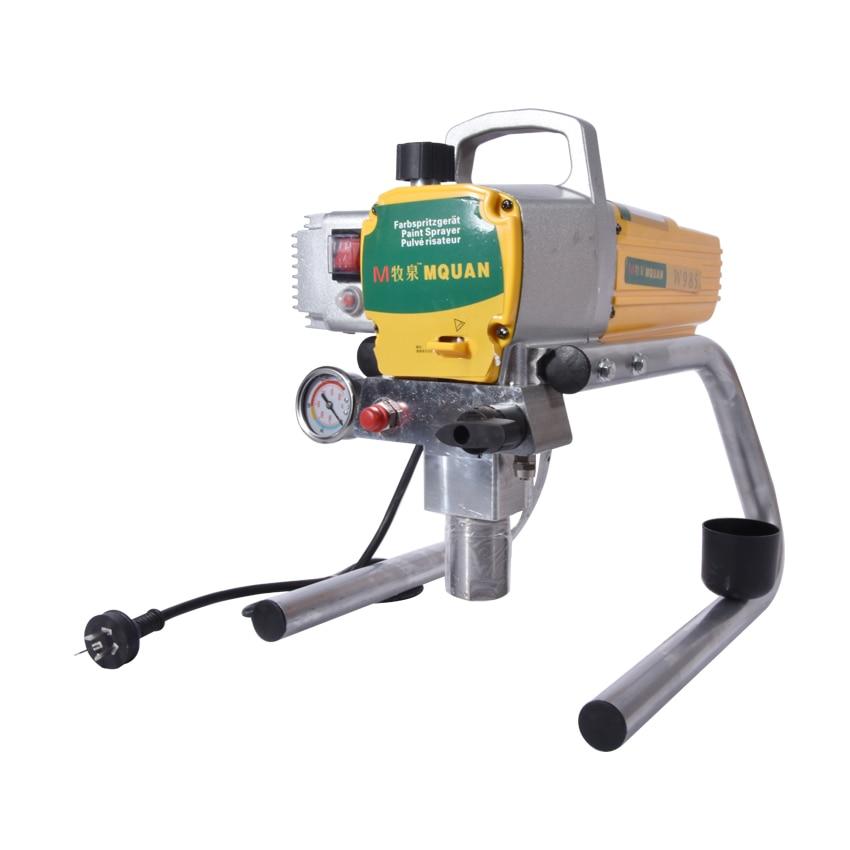 985 Professional Airless Spray Gun Electric Airless Paint Sprayer machine 2.4L/min 3000PSI 220V 1700W цена
