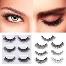 3 Pairs False Eyelashes Set Natural 3D Fake Eye Lashes Extension Eyes Makeup Tools JIU55