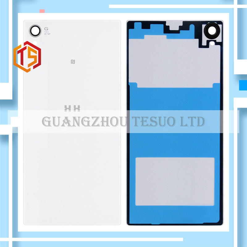 Guarantee 100% HH For Sony Xperia Z1 L39H C6902 C6903 Free Shipp Back Glass Housing Case Battery Door Parts Free Shipping 10pcs