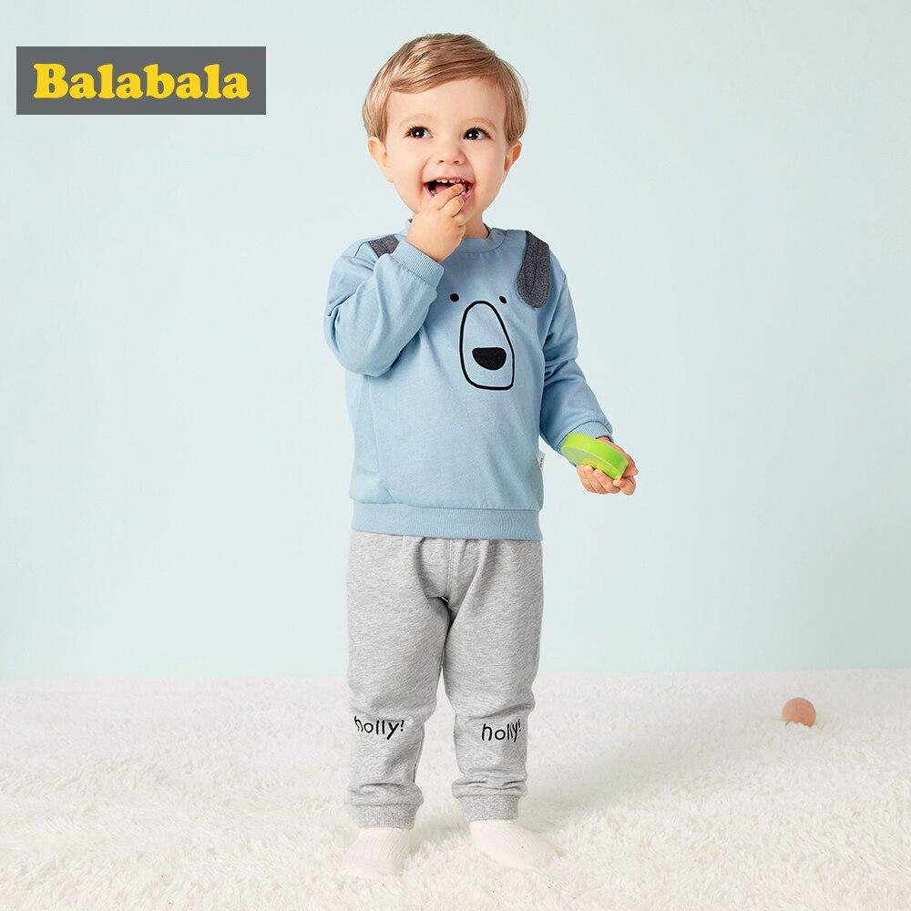 Bebê meninos conjunto de roupas casual primavera outono manga comprida t-shirt + calças macio e confortável menino crianças ternos diversão impressão manga longa